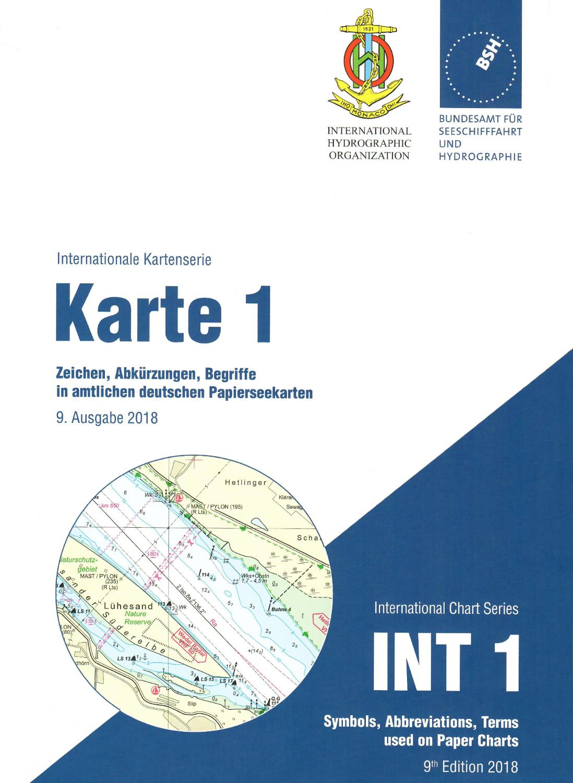 Karte 1 /  INT 1 - Seekarten Zeichen, Abkürzungen und Begriffe