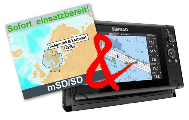 "Simrad Cruise 9"" mit Navionics+ 45XG Seekarte (Bundle)"
