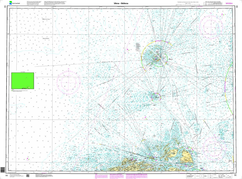 Norwegen N 50 Atlantik von Vikna bis Sklinna Fyr