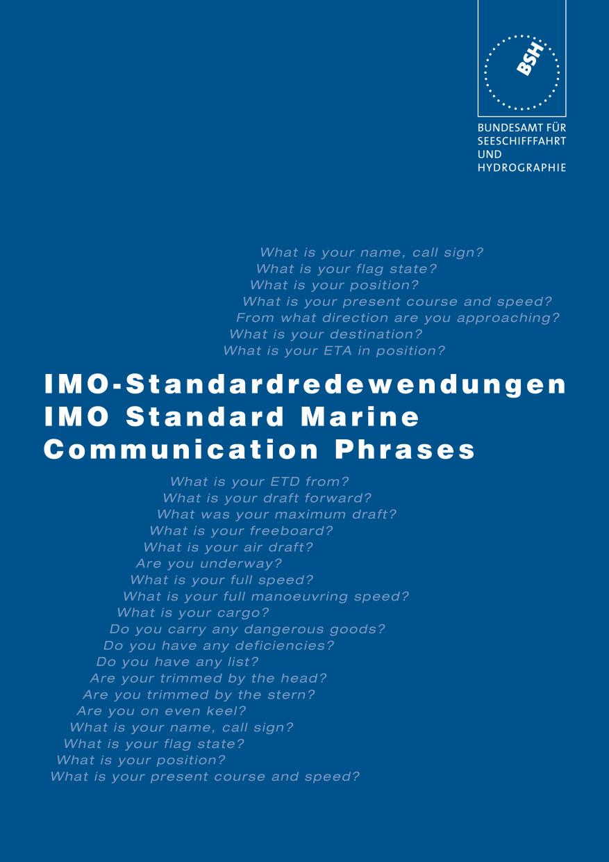 IMO-Standardredewendungen für die Seefahrt engl./deut. 2113