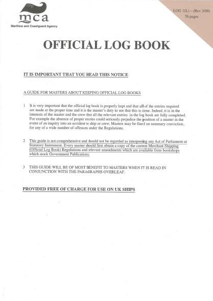 Official Log Book (MCA) 1(L)