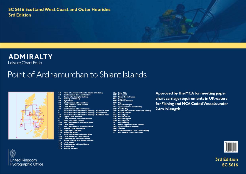 SC5616 Scotland - Point of Ardnamurchan to Shaint Islands