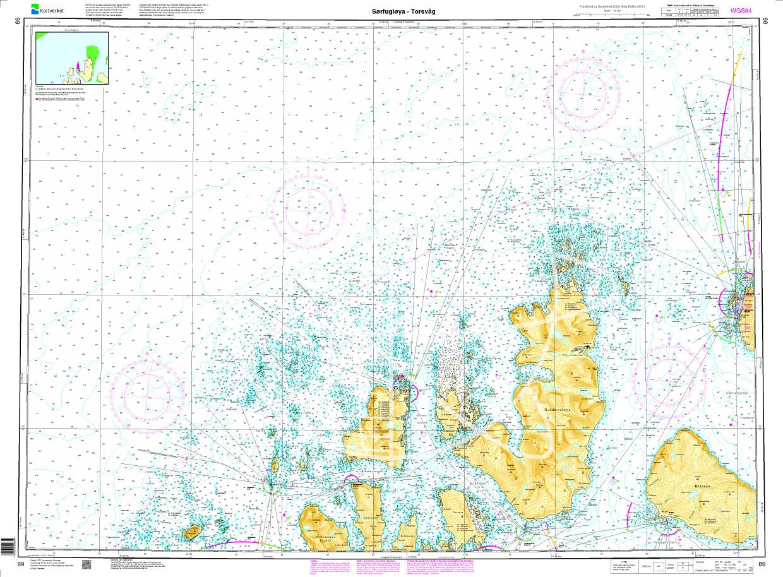 Norwegen N 89 Atlantik Sørfugløya - Kvaløya - Torsvaag