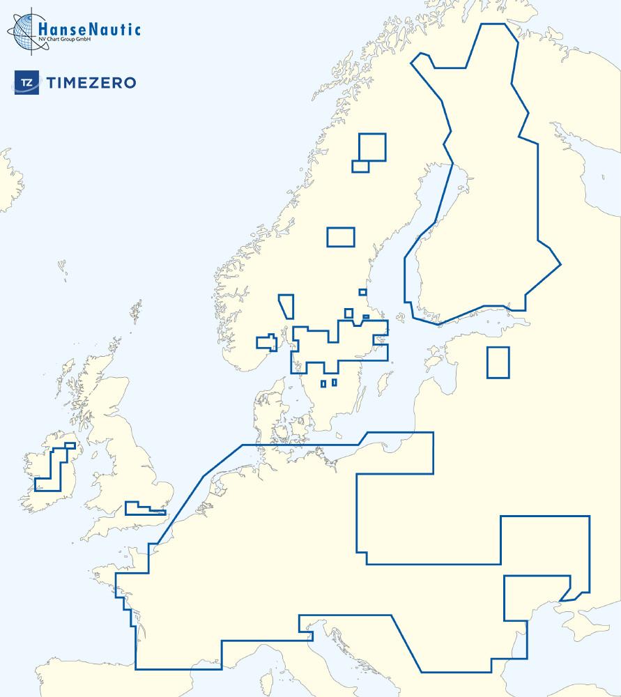 MapMedia C-Map Wide Vector Chart:MWVJEMM018MAP European Inland Waters