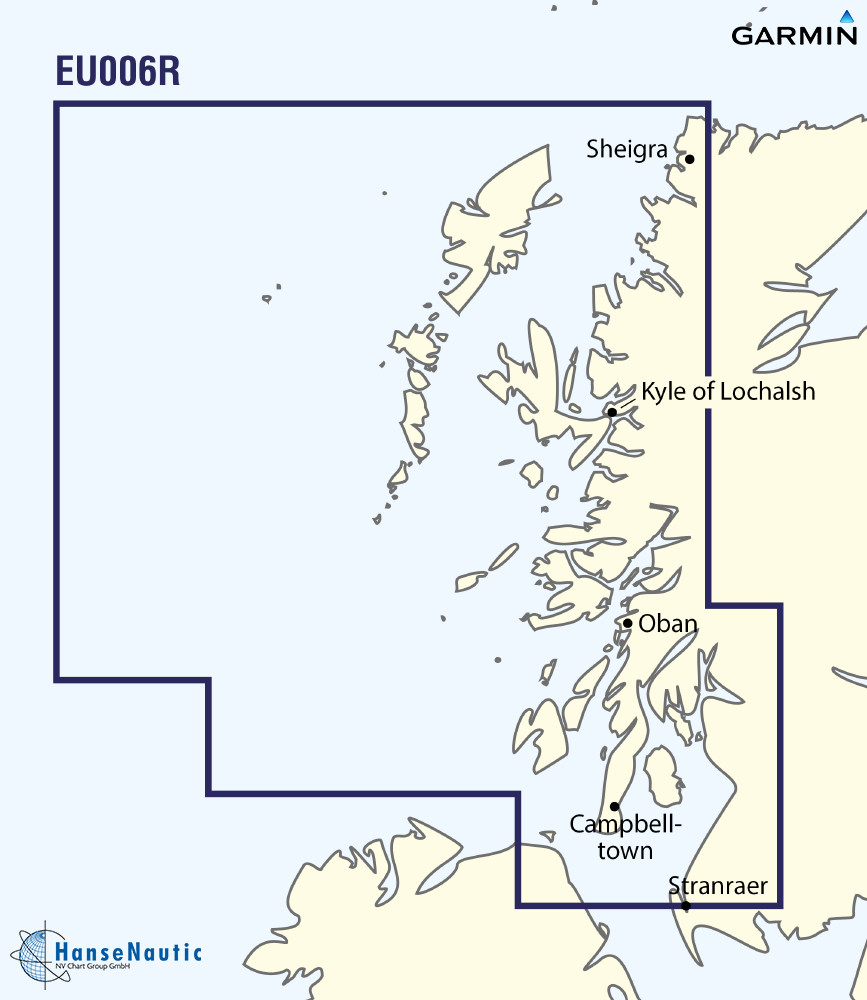 BlueChart g3 Vision Chip Regular VEU006R-Scotland, West Coast