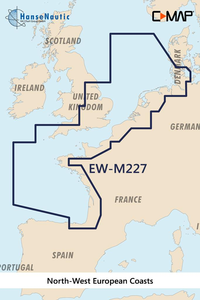 C-MAP MAX Wide EW-M227 North-West European Coasts