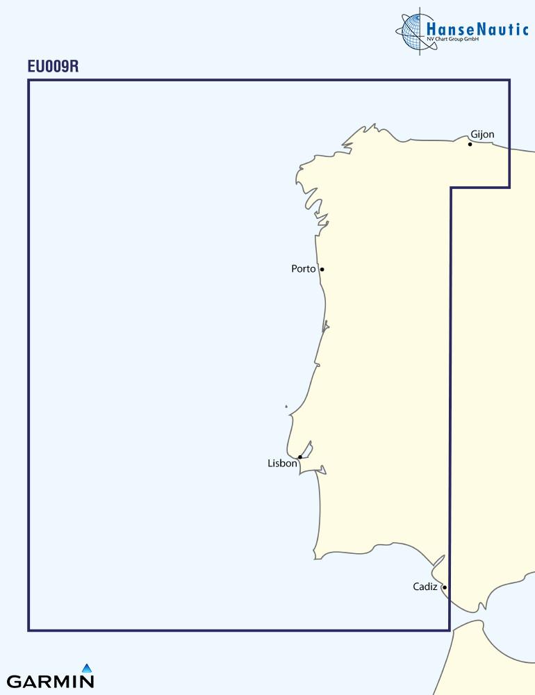 BlueChart Atlantik, Portugal u. NW-Spanien, g3 XEU009R