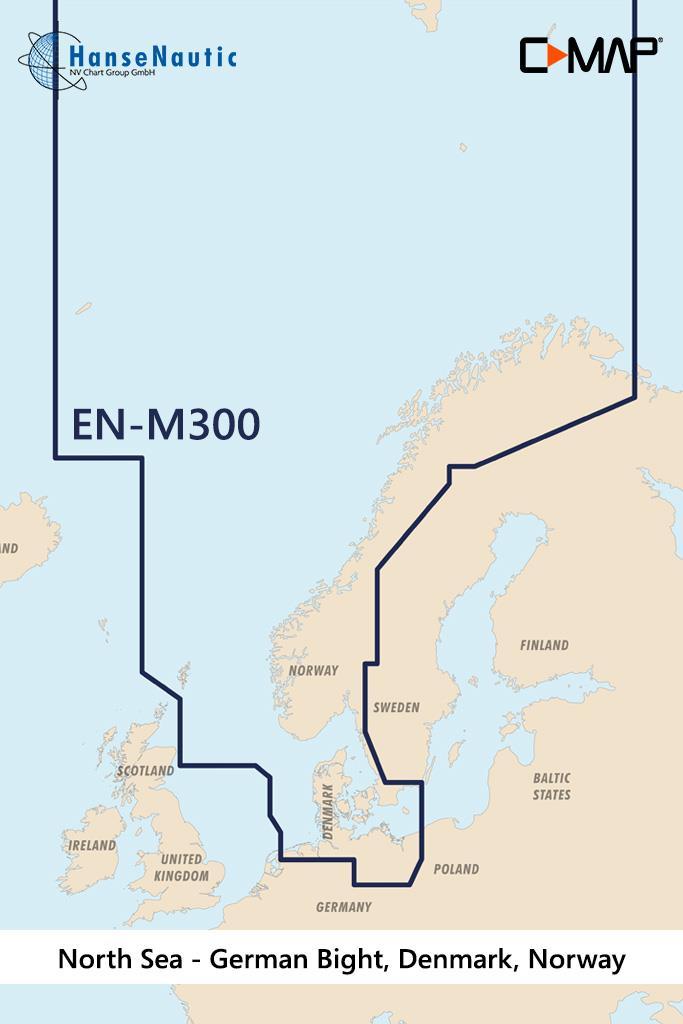 C-MAP MAX Wide EN-M300 North Sea & Denmark