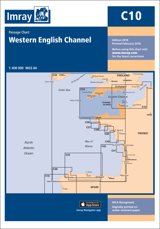 IMRAY CHART C10 Western English Channel Übersegler