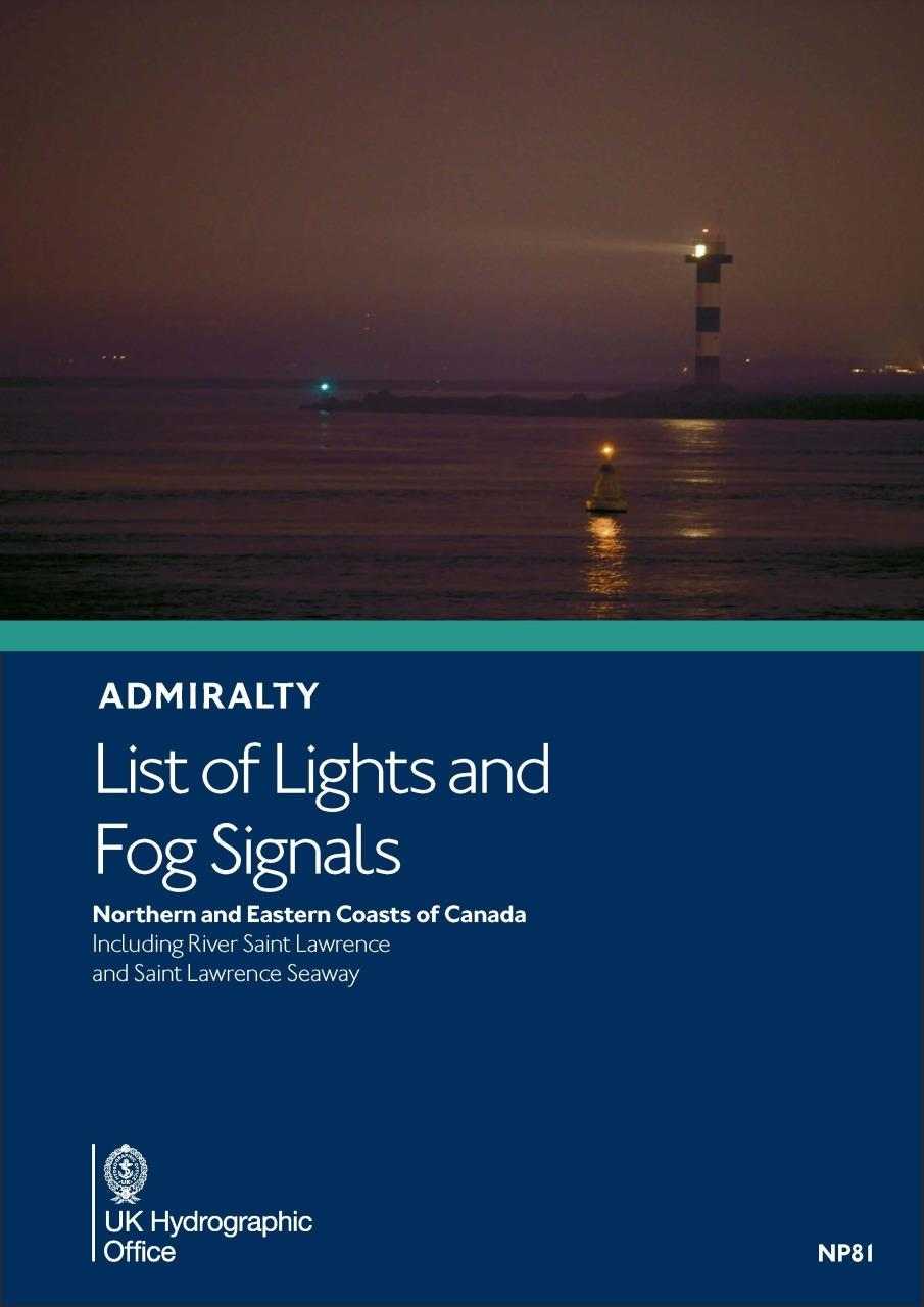 ADMIRALTY NP81 Lights List H - North & East Coast of Canada