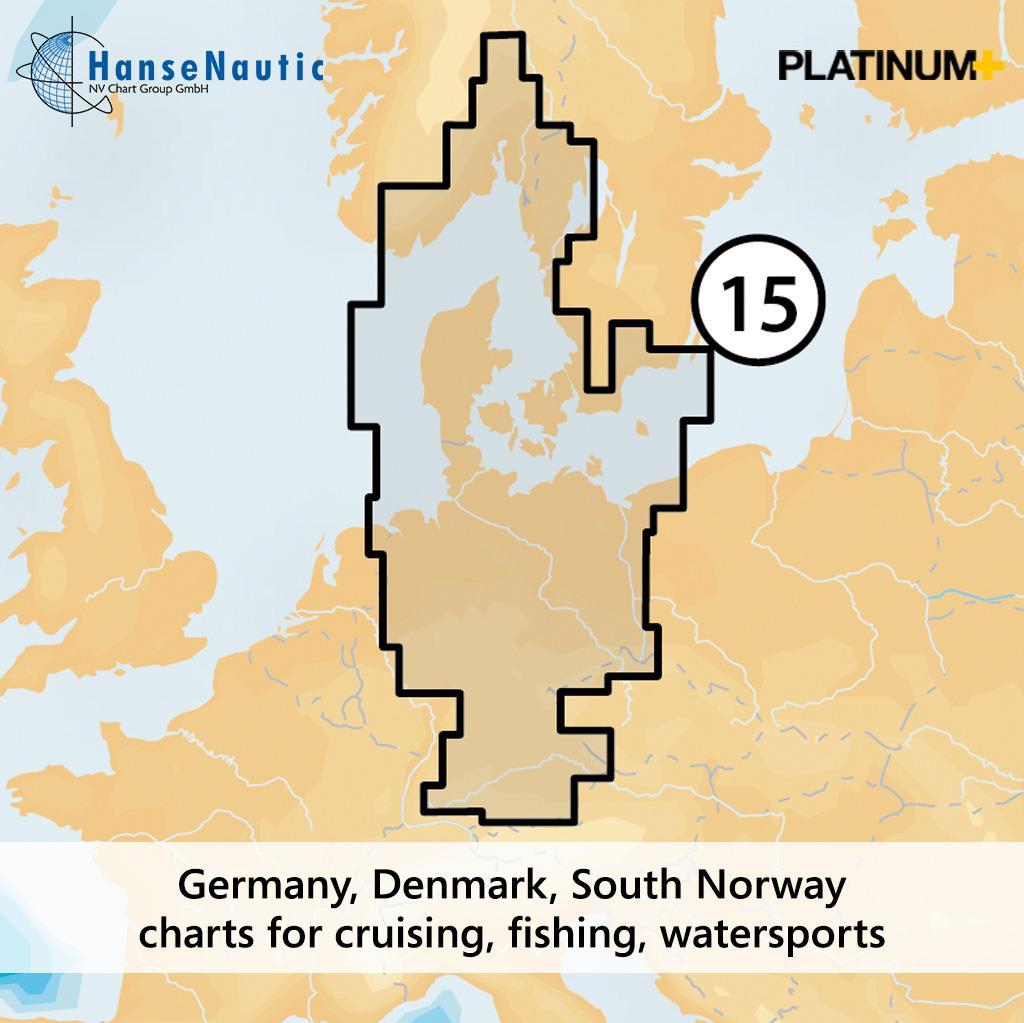 Navionics Platinum+ Deutschland & Ostsee von Rügen bis Oslo 15P+