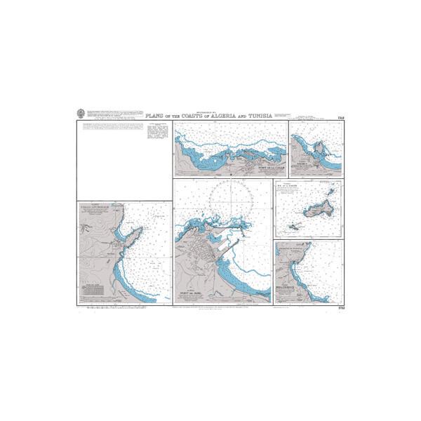 Plans on the Coasts of Algeria and Tunisia. UKHO1712
