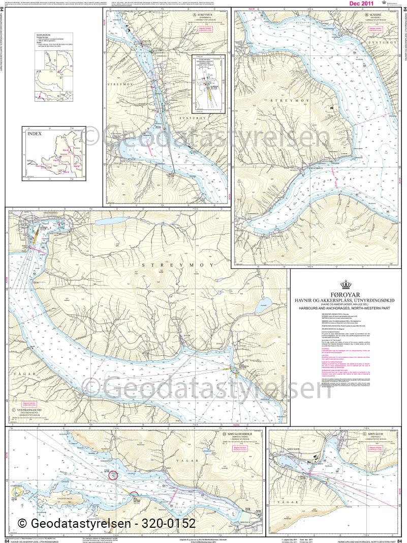 DK 84 Färöer Häfen und Ankerplätze - Nordwest