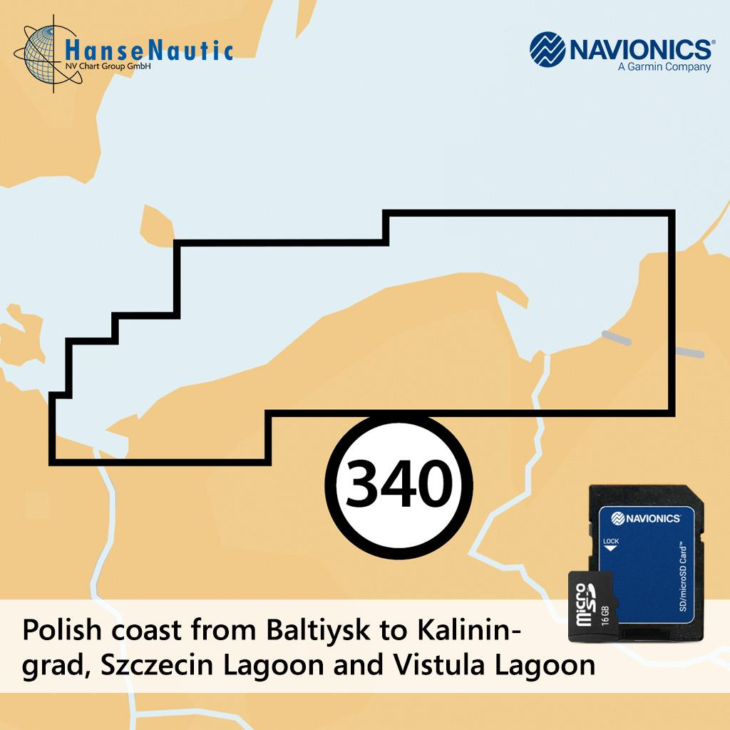 Navionics+ Küstengewässer Polen mSD (5G340S2)