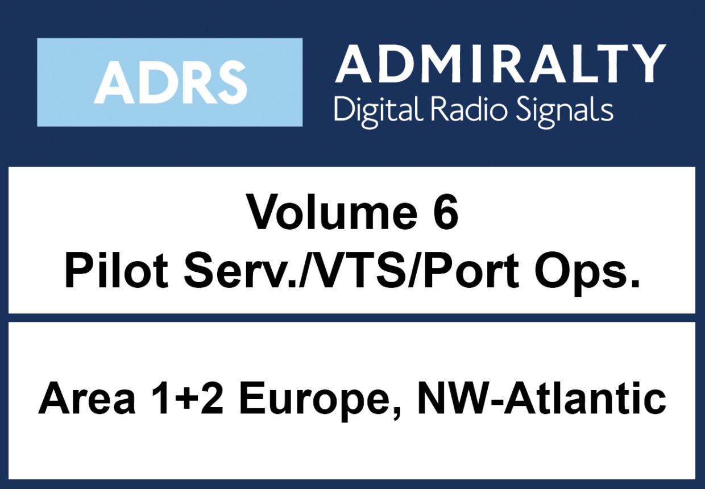 ADMIRALTY Digital List of Radio Signals 6 - Area 1-2 Nordwest Atlantik inkl. UK