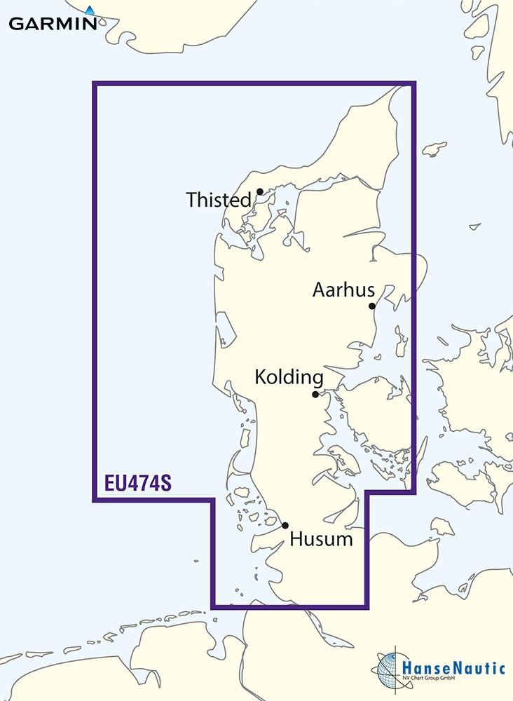 BlueChart Jütland (Dänemark), Nordseeküste Elbe-Skagen, Ostseeküste Kiel-Fredrikshavn, g3 Vision VEU474S