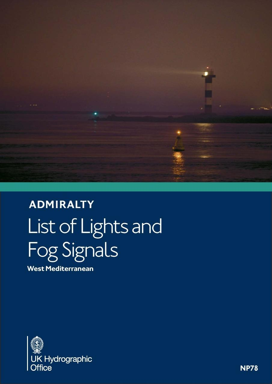 ADMIRALTY NP78 Lights List E - West Mediterranean