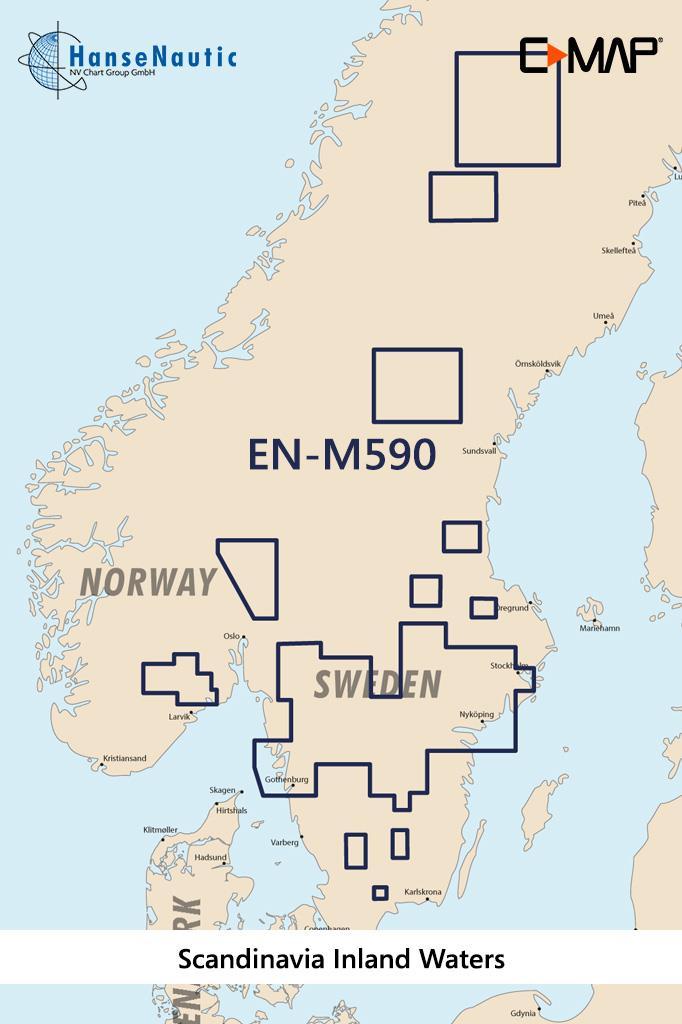 C-MAP MAX Wide EN-M590 Scandinavia Inland Waters