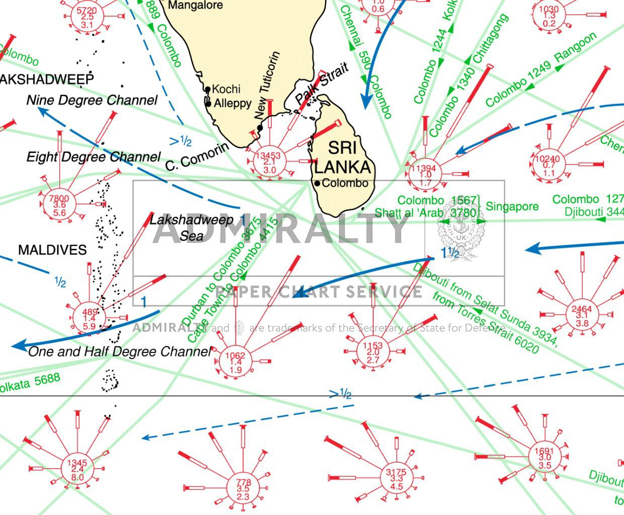 ADMIRALTY Routeing Charts Indian Ocean 5126