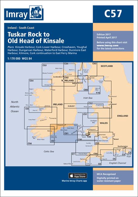 IMRAY CHART C57 Tuskar Rock to Old Head of Kinsale