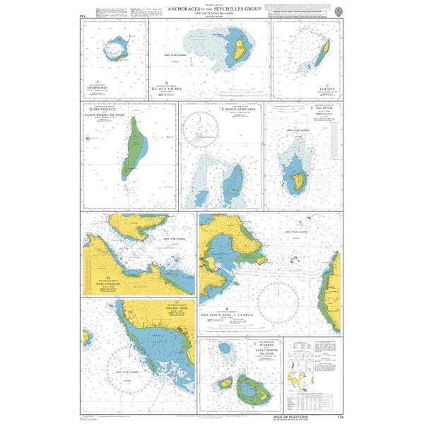 Anchorages in the Seychelles Group and Outlying Islands. UKHO724