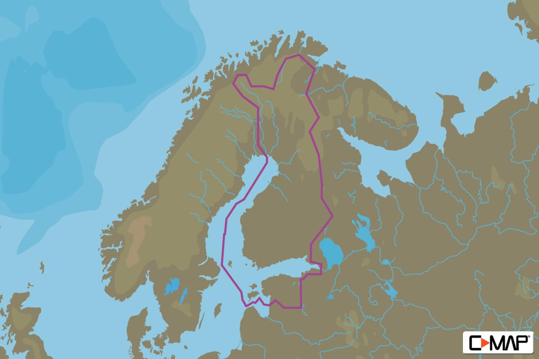 C-MAP MAX Wide EN-M326 Finland Lakes