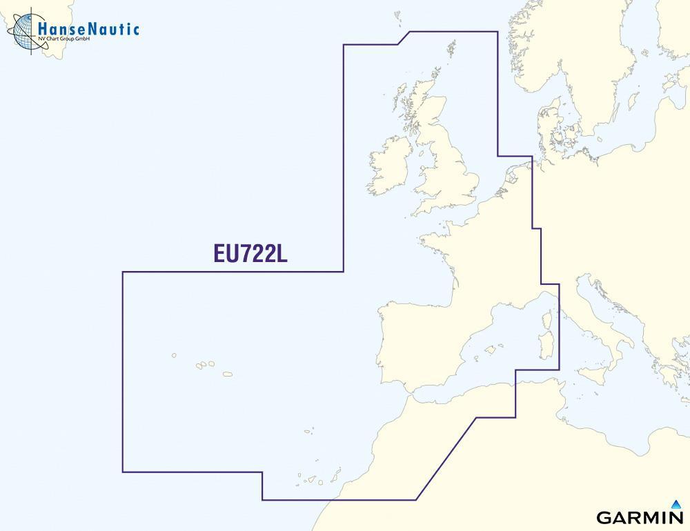 BlueChart Nordsee, UK, Atlantik (Europe Atlantic Coast) g3Vision VEU722L