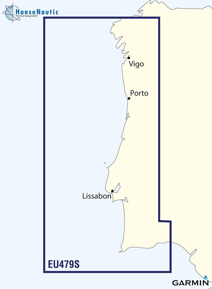 BlueChart Portugal Atlantikküste g3 Vision VEU479S