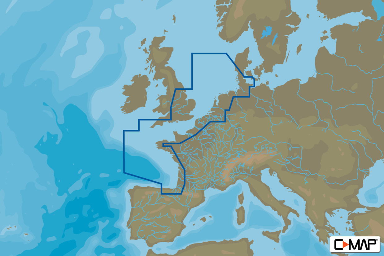 C-MAP MAX Wide EW-M227 North-West European Coasts
