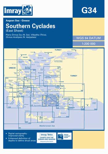 IMRAY CHART G34 Southern Cyclades (East Sheet)