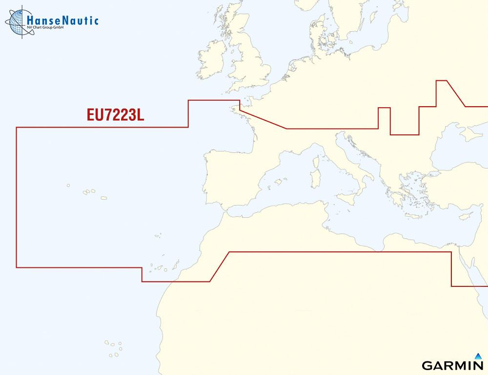 BlueChart g2 Vision Chip Large EU723L Südeuropa, Atlantik.Mittelmeer, Schwarzes Meer