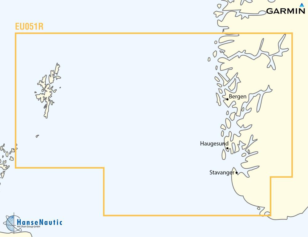 BlueChart Norwegen, Südwestküste bis Shetlands (Lista-Sognefjorden) g3 XEU051R