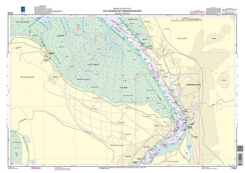 BSH 1540 Die Weser mit Bremerhaven