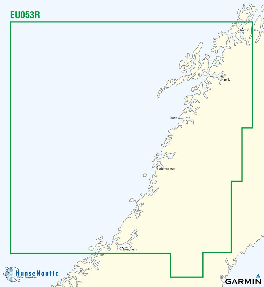 BlueChart Norwegen, Trondheim-Tromsø, g3 XEU053R