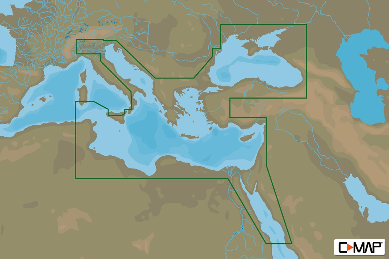 C-MAP MAX Wide EM-M111 East Medit., Black Sea