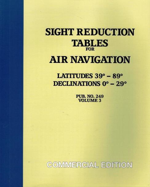 US Sight Reduction Tables Vol. 3. Pub 249