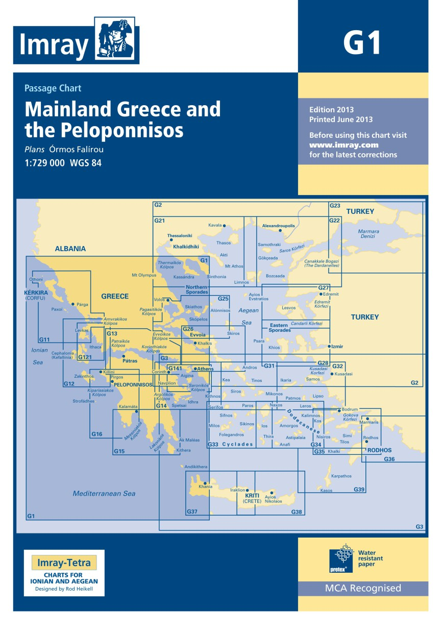 IMRAY CHART G1 Mainland Greece and the Peloponnisos