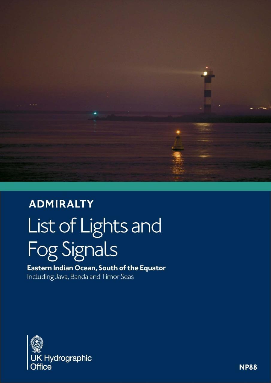 ADMIRALTY NP88 Lights List Q - Southeastern Indian Ocean