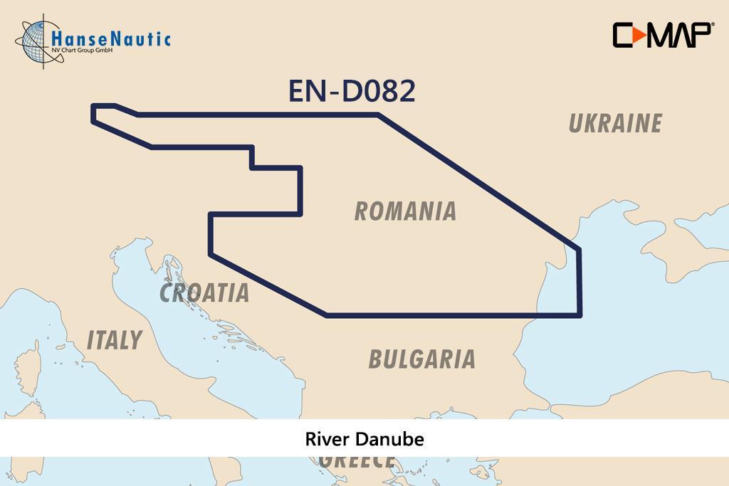 C-MAP 4D MAX+ Wide EN-D082 River Danube