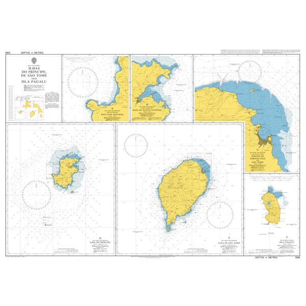 Ilhas do Principe, de Sao Tome and Isla de Annobon. UKHO1595