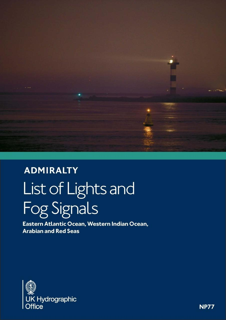 ADMIRALTY NP77 Lights List D - East Atlantic, West Indic, Arabian & Red Seas