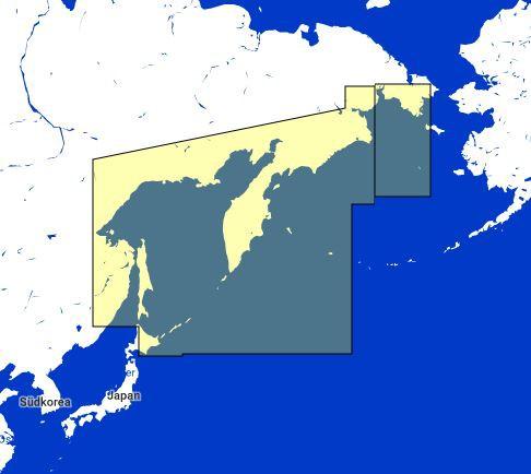 MapMedia C-Map Wide Vector Chart:WVJANM013MAPKamchatka Peninsula and Kuril Islands