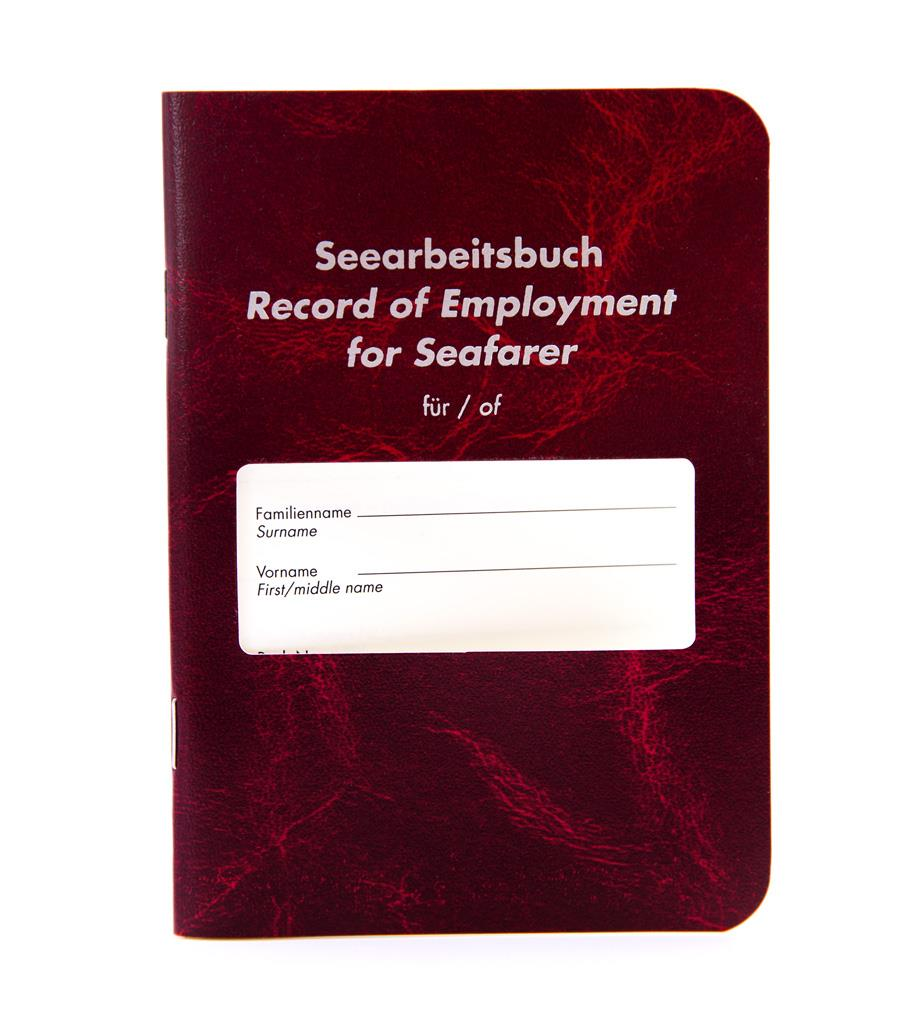 Seearbeitsbuch - Record of Employment for Seafarer