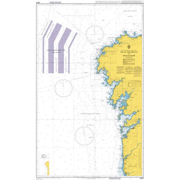 Islas Sisargas to Rio Mino. UKHO3633