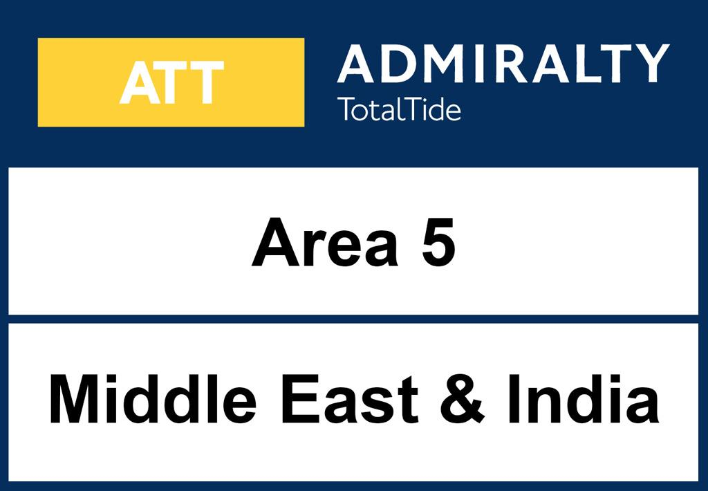 ADMIRALTY TotalTide Area 5 Middle East & India