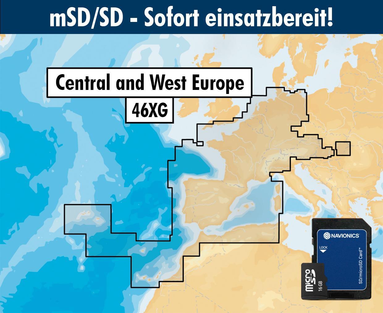Navionics+ 46XG West- und Mitteleuropa mSD