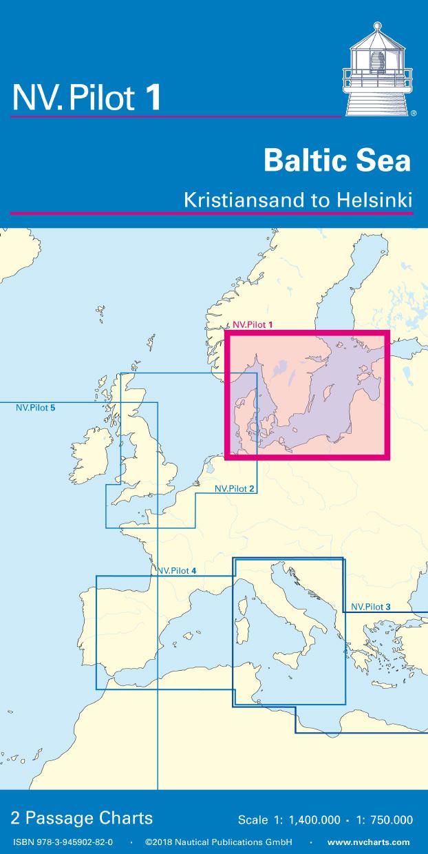 NV Pilot 1, Planungskarte Ostsee - Kristiansand bis Helsinki