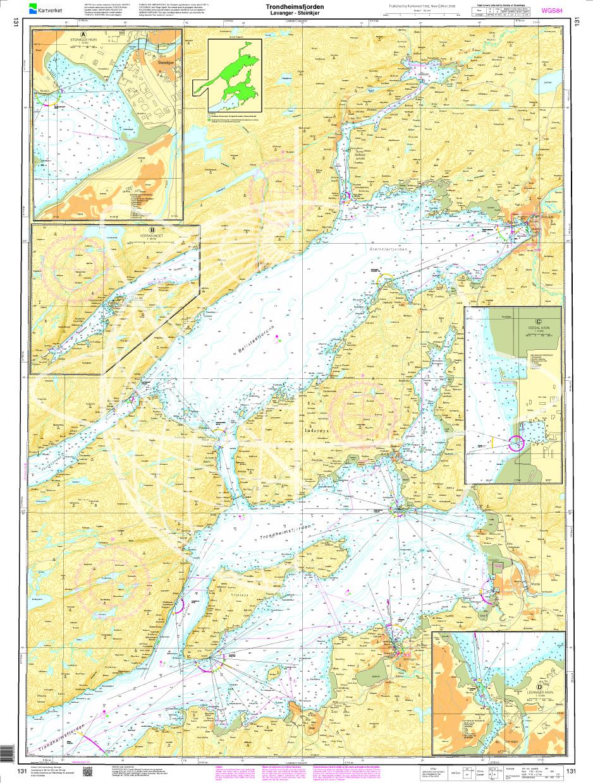 Norwegen N 131 Atlantik Trondheimsfjord von Levanger bis Steinkjer