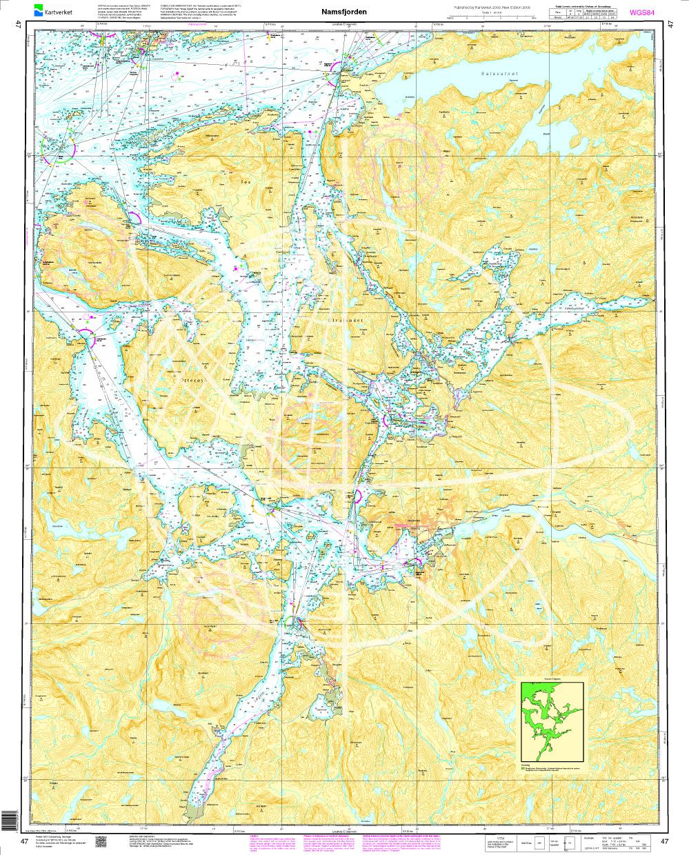 Norwegen N 47 Atlantik vom Namsfjord