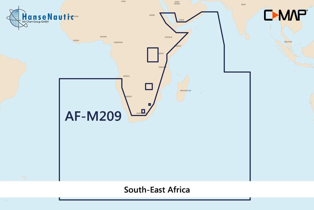 C-MAP MAX Wide AF-M209 South-East Africa